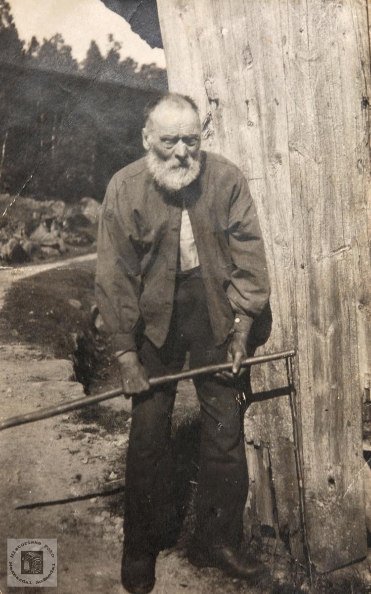 Portrett av Nils Guloson på Barstad i Audnedal.