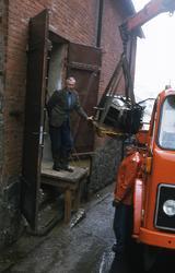 Ångpanna från Mölndals mekaniska verkstad har transporterats