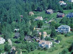 Flyfoto, Lillehammer, Søndre bydel, Trararo midt i bildet ti