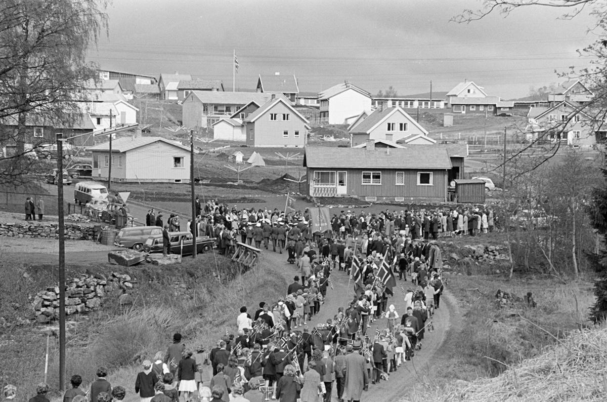 17.mai 1965, barnetog, skoletoget, Sælidvegen, Ridabu, Vang H.