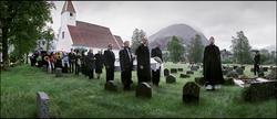 Gravferda til Olav Aahaug, Ålhus, 10. juni [Fotografi]
