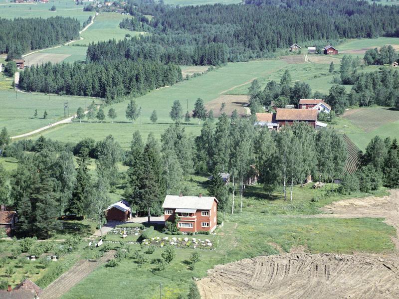 Eiendommen Villa Sandmo. Widerøe flyfoto 1961