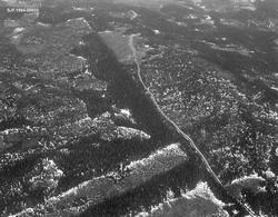 Sølnas utløp i Trysilelva. Flyfoto. Bildet ble tatt i midten
