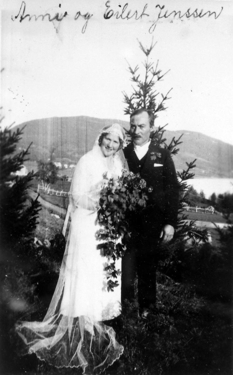 Brudebilde av Anny og Eilert Jenssen 29 juli 1934