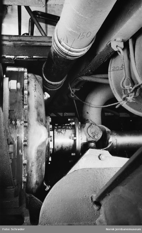 Motorvogn type 86 og 91 - Vulcan Sinclair Fluiddrive-kopling, størrelse 550 uten Bellhousing