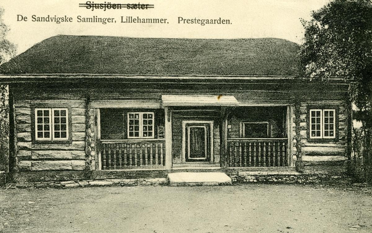 Postkort. Maihaugen, Prestegarden