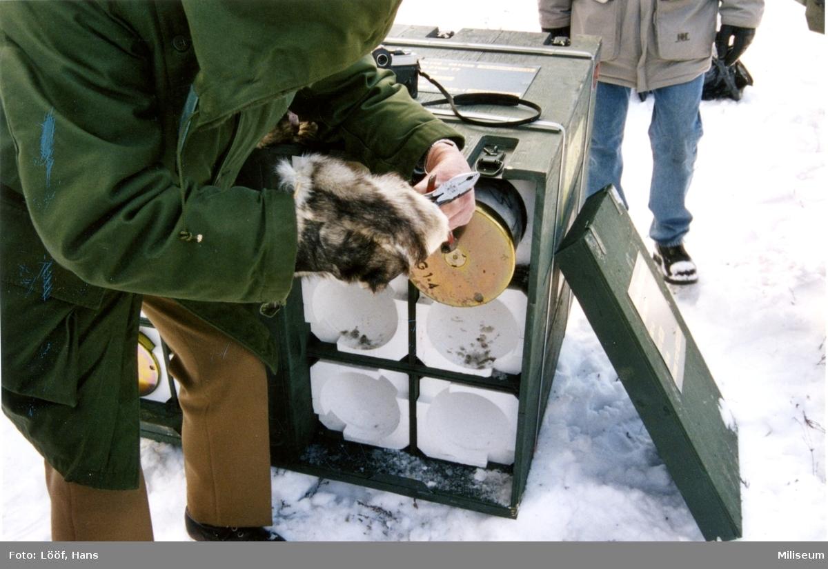 Ammunition till haubits 77, 15,5 cm. Skarpskjutning, A 9.