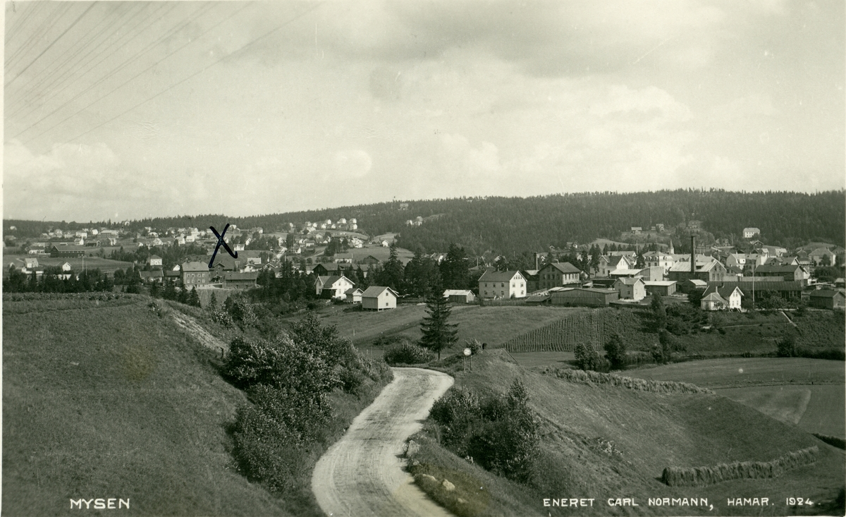 Postkort med motiv fra mysen. Kortet er sendt til Barth i Oslo.