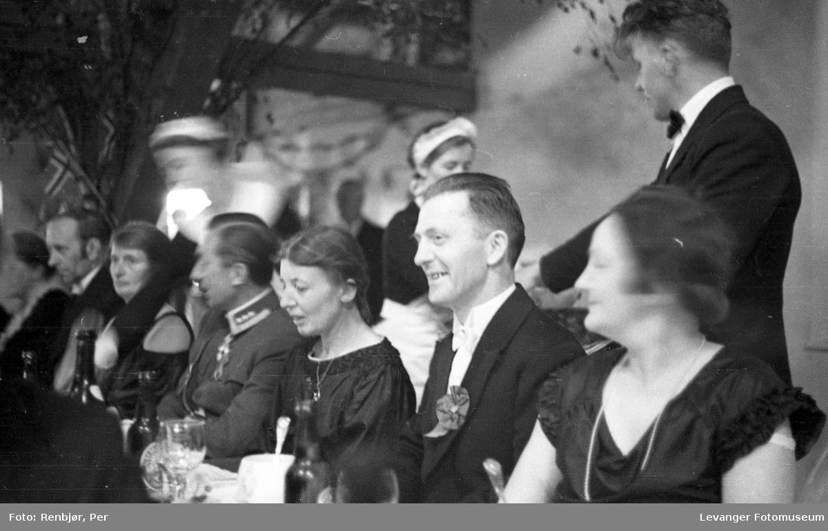Borgermiddag under byjubileeet i Levanger 1936.