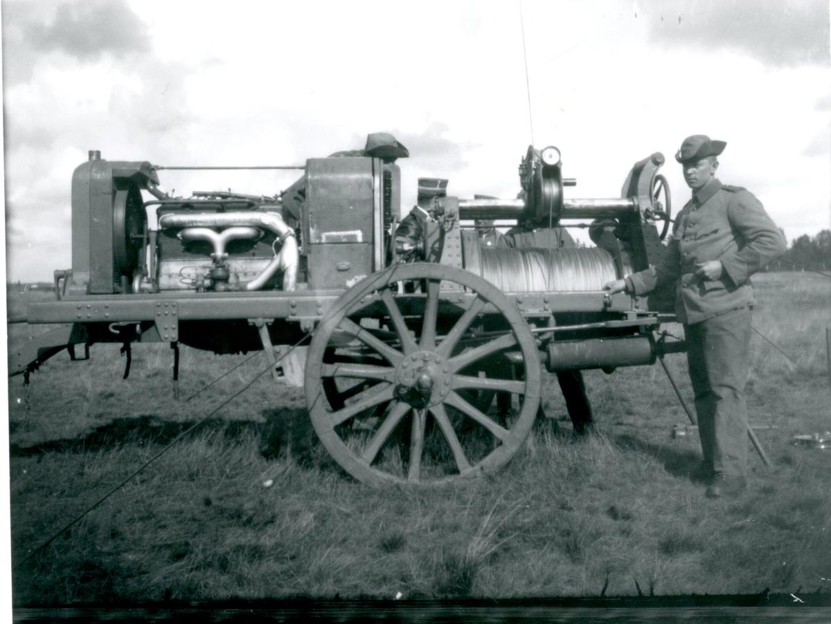 Kabelvinschvagnen under övningar i Skillingaryd.