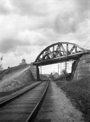 Bru over Gjøvikbanen på godssporet Grefsen-Alnabru