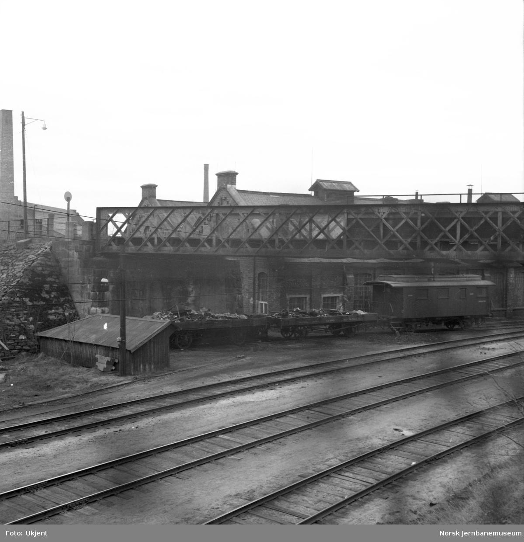 Bru for Stangevegen over Rørosbanen på Hamar stasjon