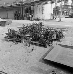Transportskadet jern til Mg-anoder.