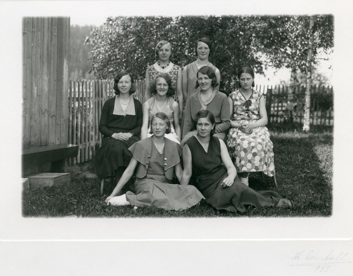 Ei gruppe elevar ved Vestoppland Folkehøgskule.