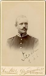 Porträtt av okänd sergeant (Flach?).