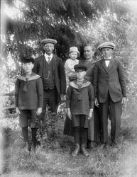 Familjen Hedström, Solbo, Uppland 1925