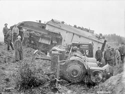 Bilde tatt i forbindelse med togulykke like nord for Tynset