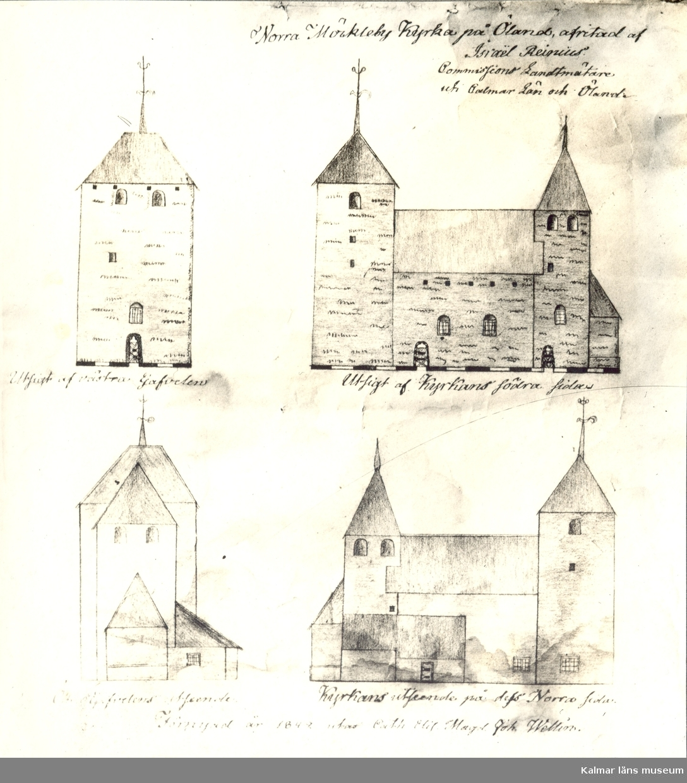 Ölandskyrkor. Serie efter Rhzelius. Petrus Törnewall (trol) 1673.