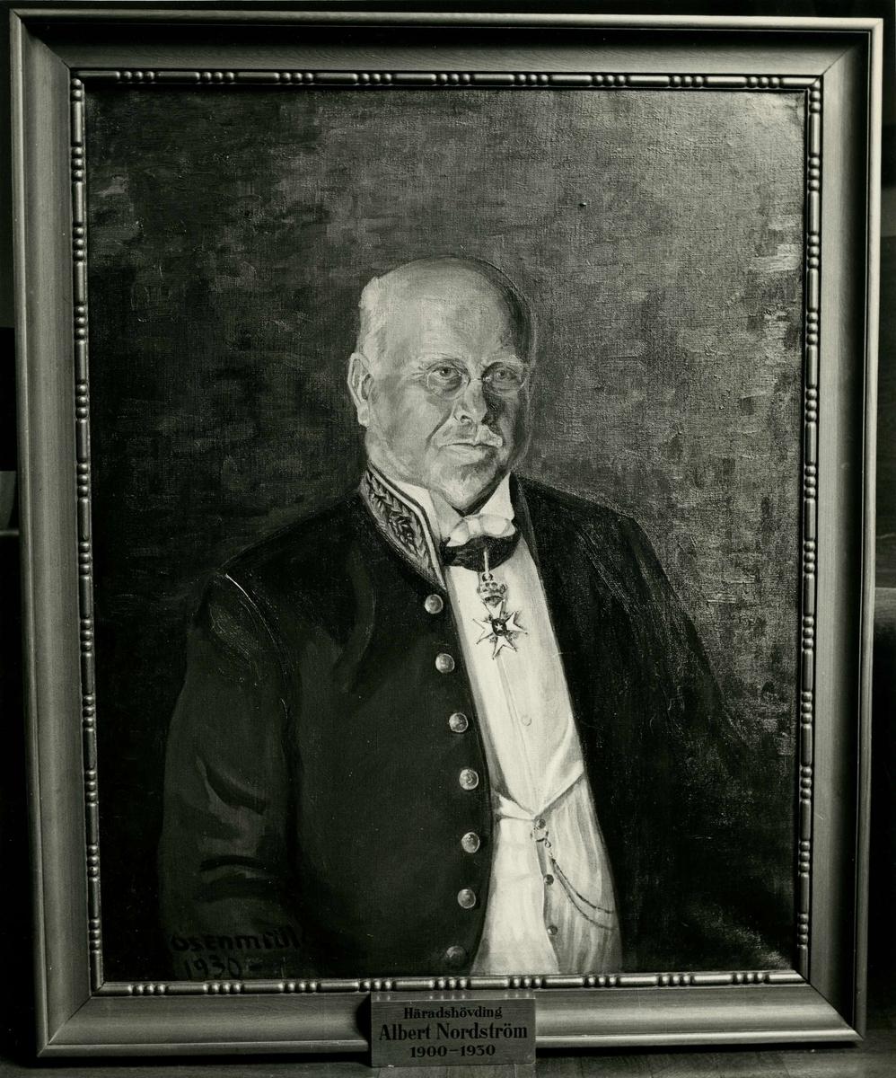 Oljemålning föreställande häradshövding B A Albert Nordström.