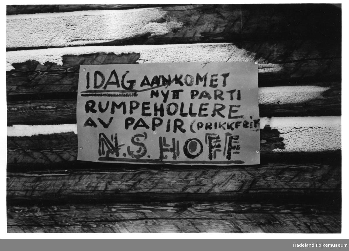 Hytteliv under krigen.