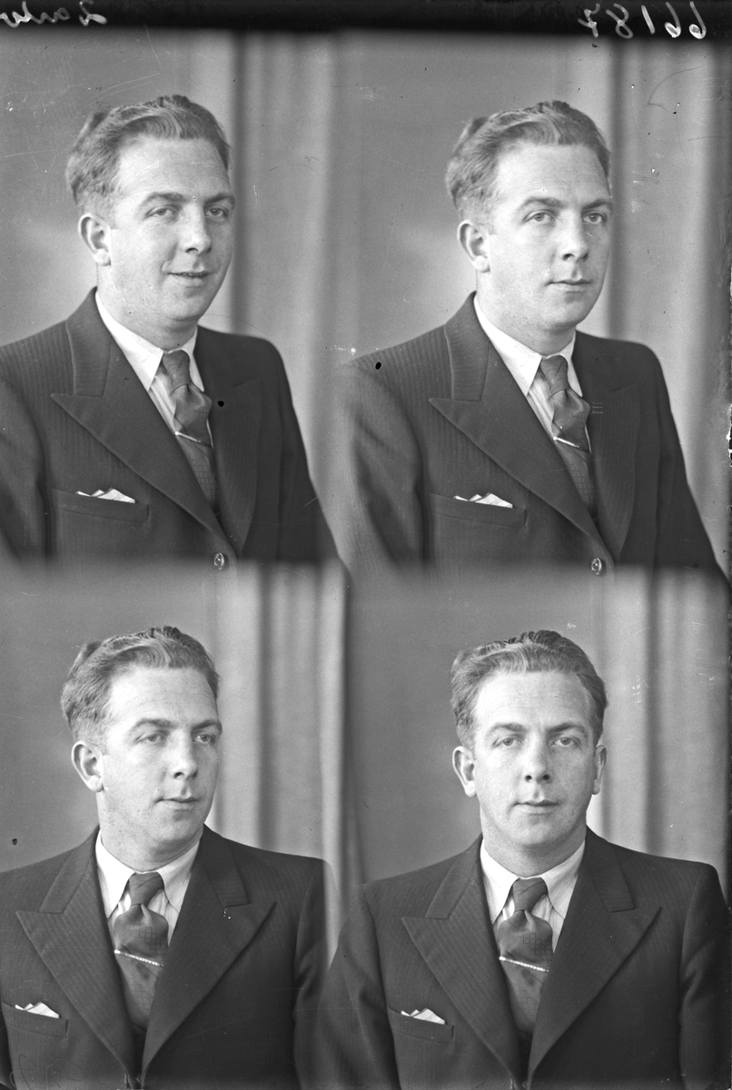 Portrett. Ung mann. Bestillt av Odd Våland. Gange Rolfsgt. 14