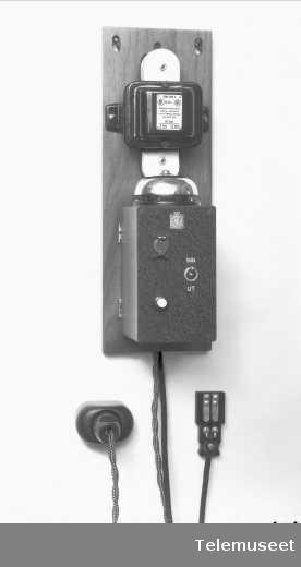 Tyverialarmsentral, enkel, Elektrisk Bureau