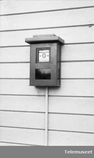 Brannmelder for branntelegrafanleggl, Elektrisk Bureau