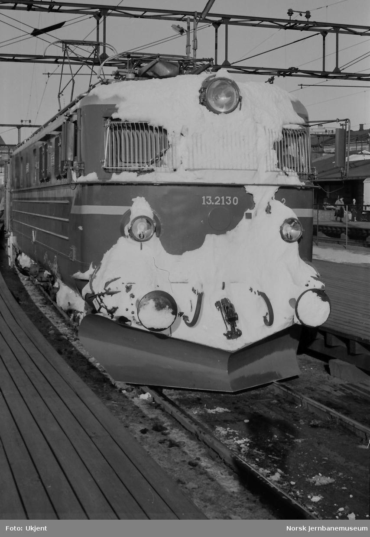 Elektrisk lokomotiv El 13 2130 på Oslo Ø