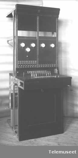 Telefonsentral, langlinjebord for Asti, front. 13.4.1915. Elektrisk Bureau.