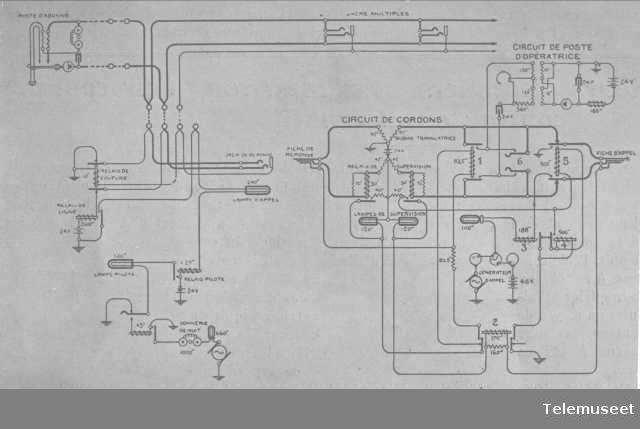 Skjema for cb-sentral for aut. ringing. Bell system. 10.11.15. Elektrisk Bureau.