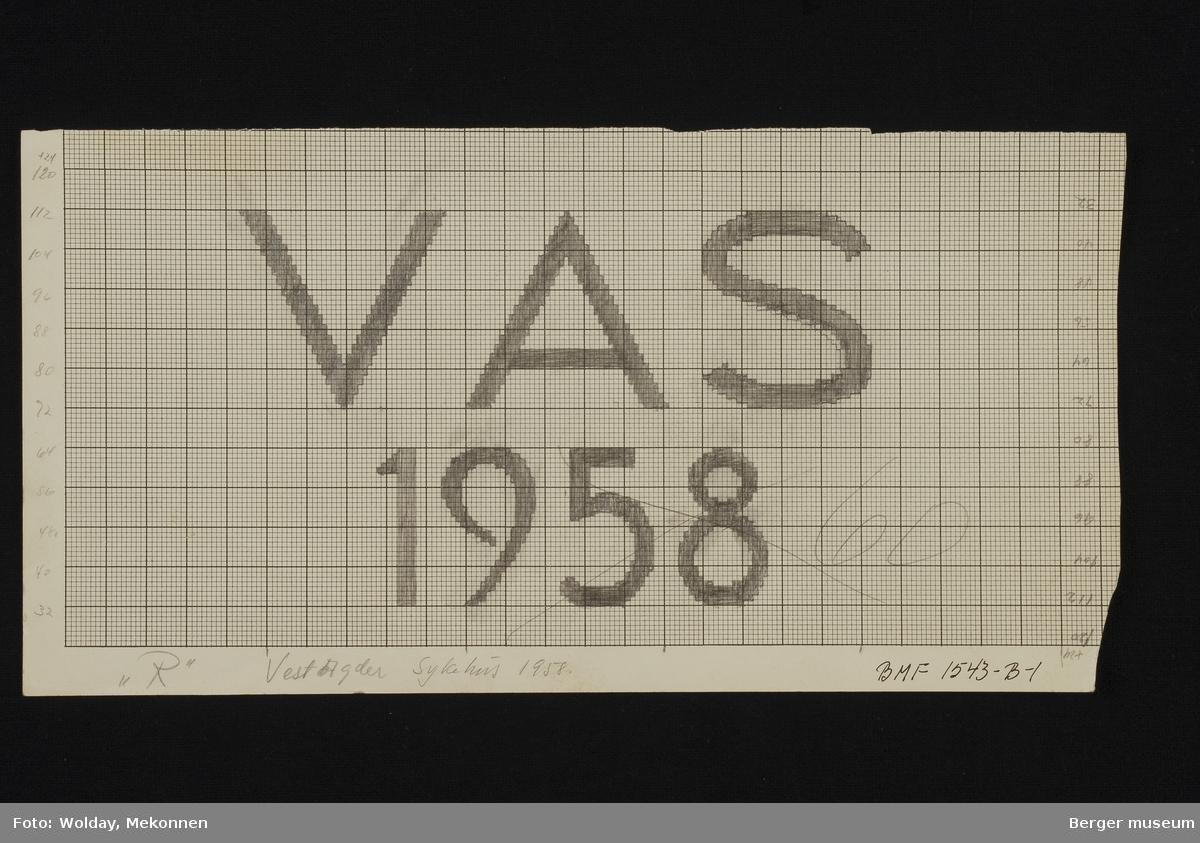 """""""V A S"""" (Vest-Agder sykehus) 1958"""