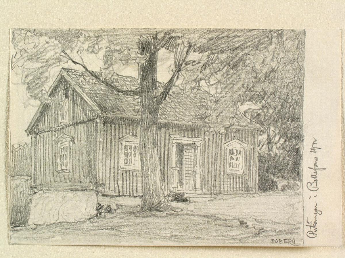 Västergötland, Vadsbo hd., Bällefors, Pulsängen. Teckning av Ferdinand Boberg.