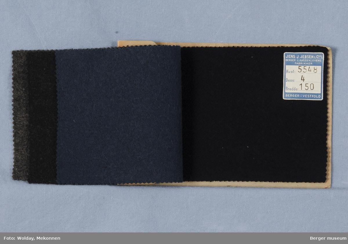Prøvehefte med 4 prøver Frakk Melert Kvalitet 5548