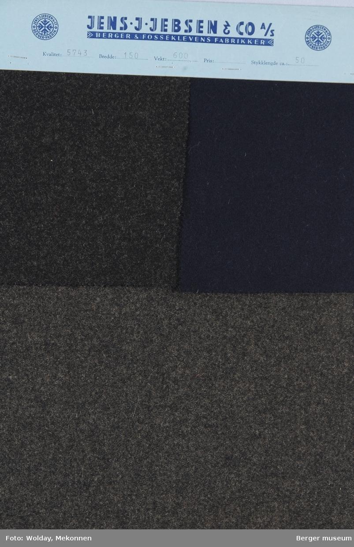 Prøvehefte med 3 prøver Melert Frakk Kvalitet 5743