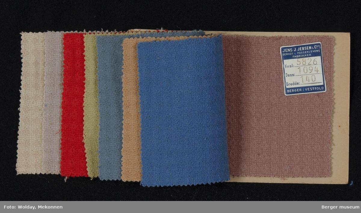 Prøvehefte med 8 prøver Kåpe Kvalitet 5826 Stykkfarget