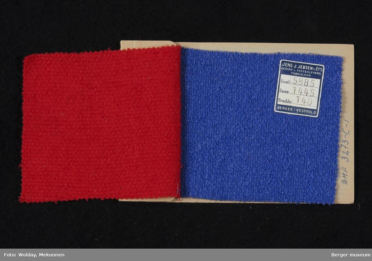 Prøvehefte med 2 prøver Drakt, bekledning Kvalitet 5885 Stykkfarget