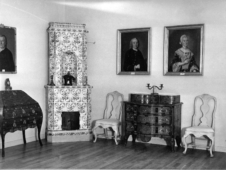 Bildtext: Skara.  Stadsträdgården Västergötlands museum. Från Högreståndsavdelningen.  Ordnad1938 av Gunnar Ullenius.