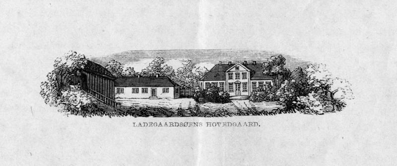 Illustrasjon fra Holst, Christian (red.) 1865. Beretning om Ladegaardsøens Hovedgaard for 1862 og 1863.