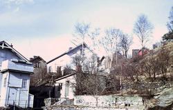 Bostadsbebyggelse vid Kvarnbygatan i Mölndal, 1970-tal. Huse