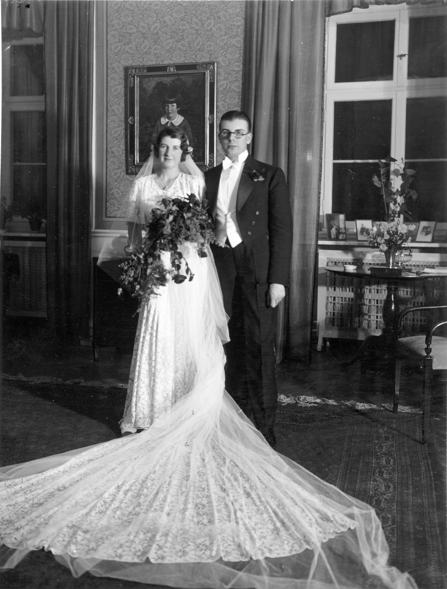 Brudparet Karin Lübeck - Stigbjörn Paul Herbert Ebbinghous  Holgersson