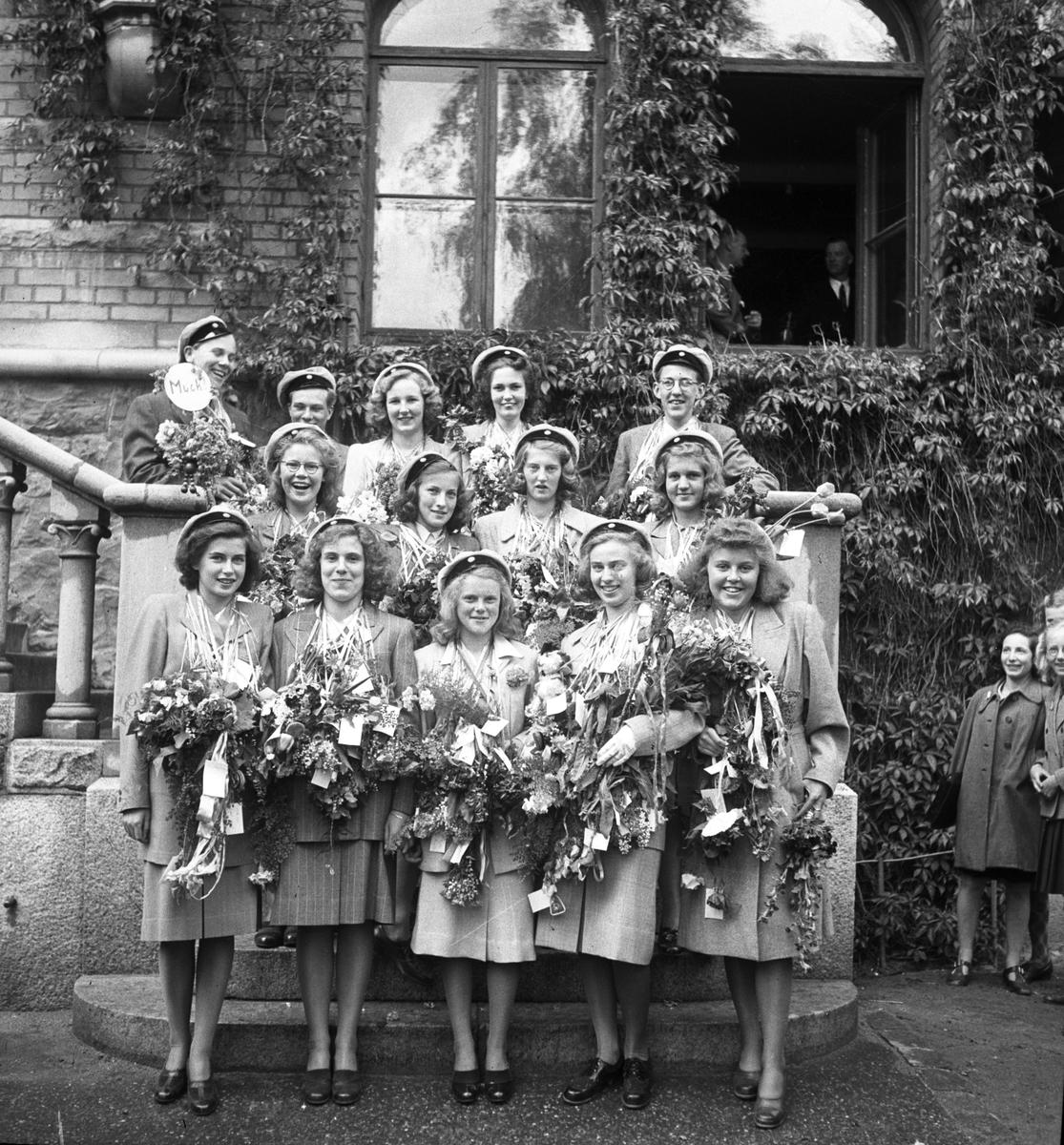 Borgarskolans real. 1943