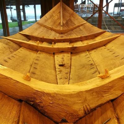 Detalj av trebåten Vaterland 1.