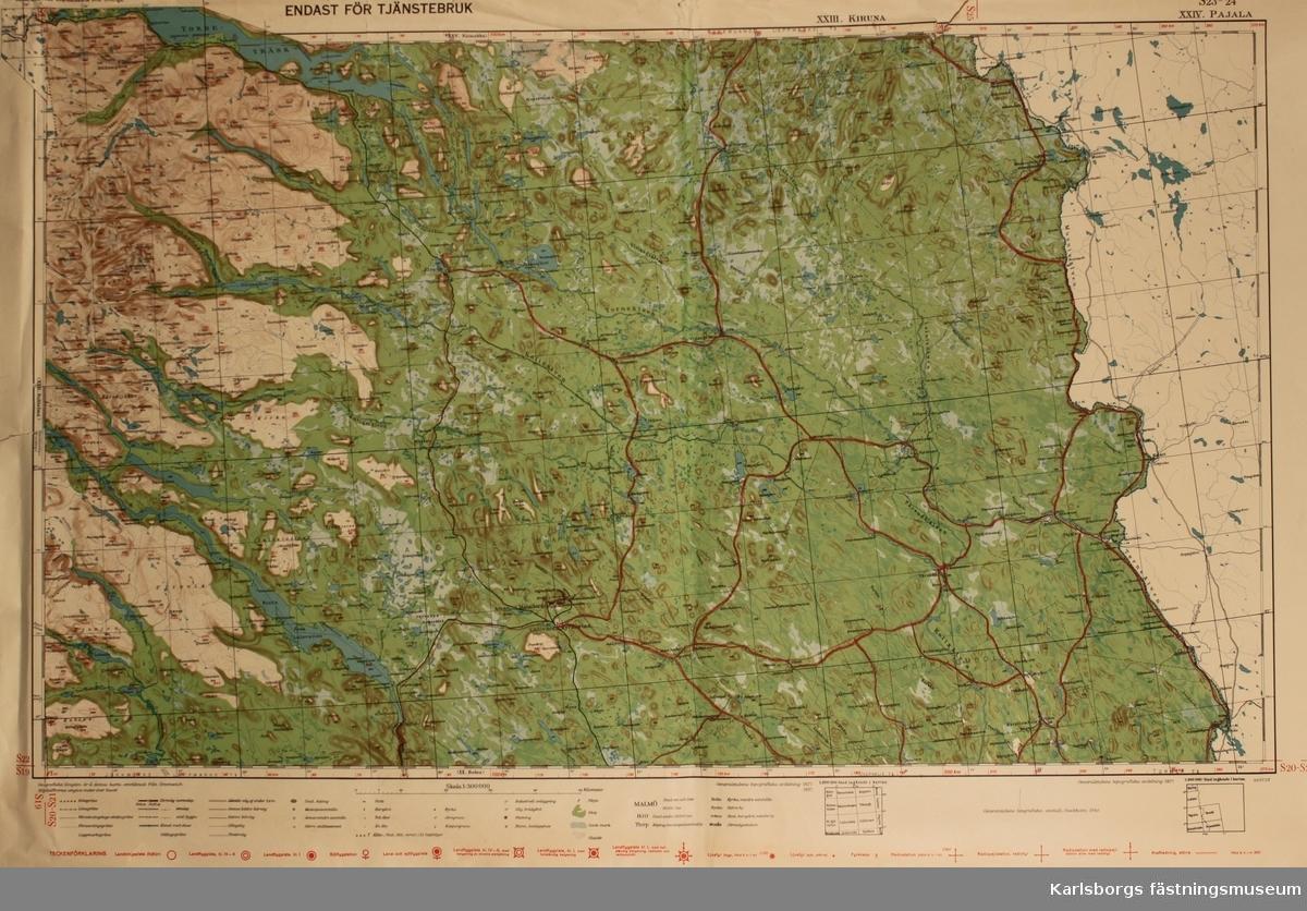 Karta Sverige Pajala.Karta 1 300 000 Karlsborgs Fastningsmuseum Digitaltmuseum