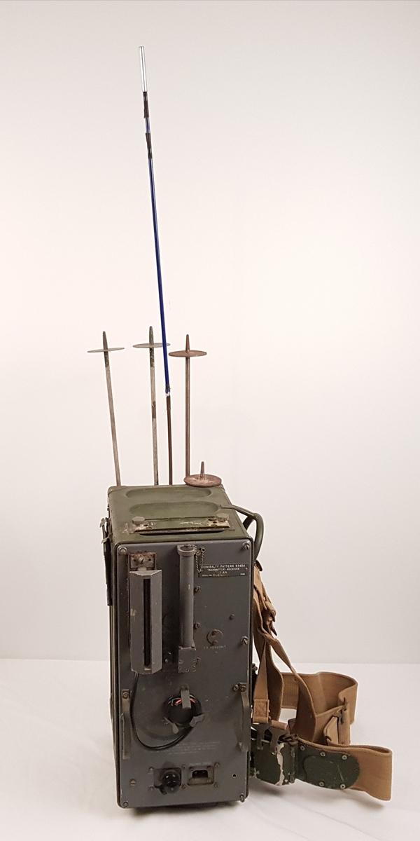 Eureka, radiofyr med sele slik at det kan bære på ryggen.