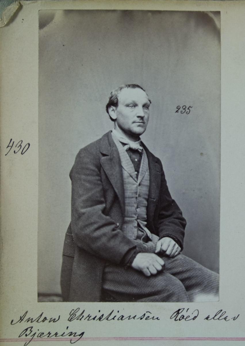 Fangeportrett, Anton Christiansen Røed eller Bjærring