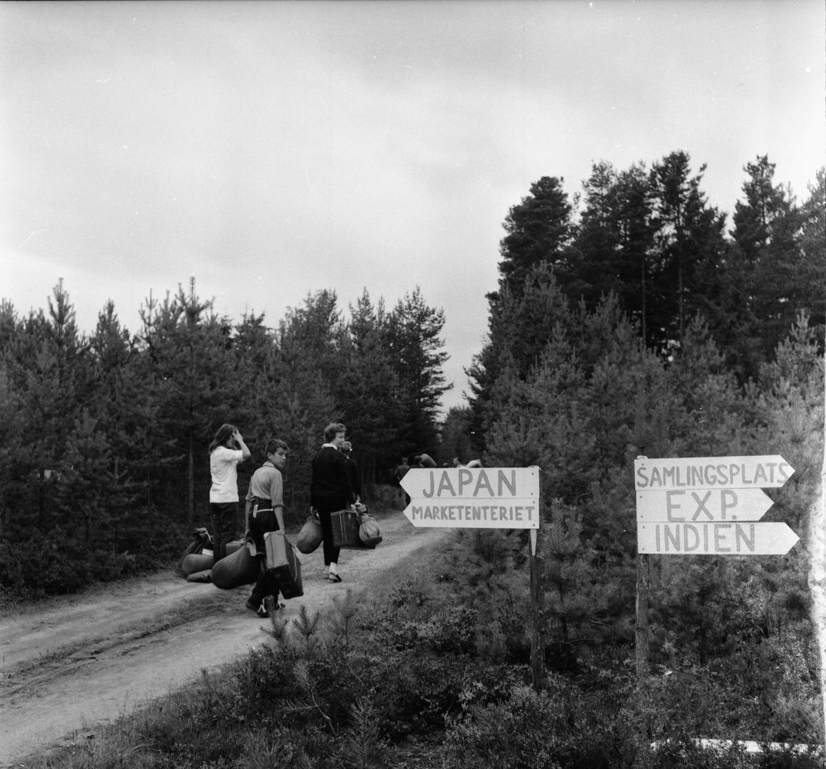 INKOJA-junior och scoutläger på Fagernäs sommaren 1958. Det var på sin tid det största kristna ungdomsläger so hållits i Sverige med 2000 deltagare. Namnet INKOJA stod för de första bokstäverna i Indien, Kongo, Japan. Folk från hela världen var samlade. till och med en färgad fanns med, det var inte vanligt att se färgade i Sverige på den tiden. Emil Mörk var den som hade ansvaret för platsen och han hade tagit kommunen, försvaret och skogsbolagen till hjälp. Alla ställde upp. Lägret blev en succé. Fagernäs augusti 1958.