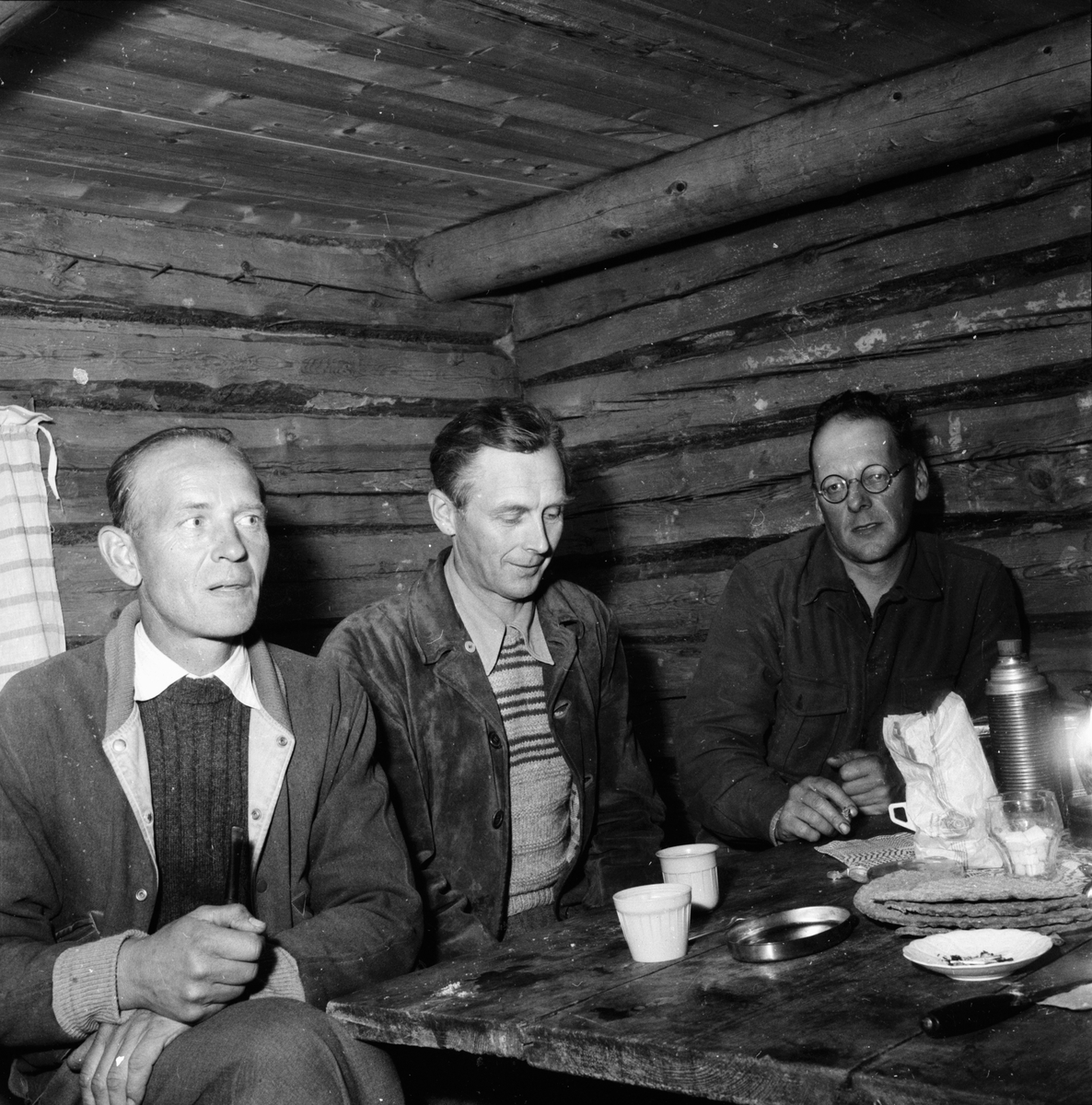 Kräftfiske. Granbo 7/8 1958