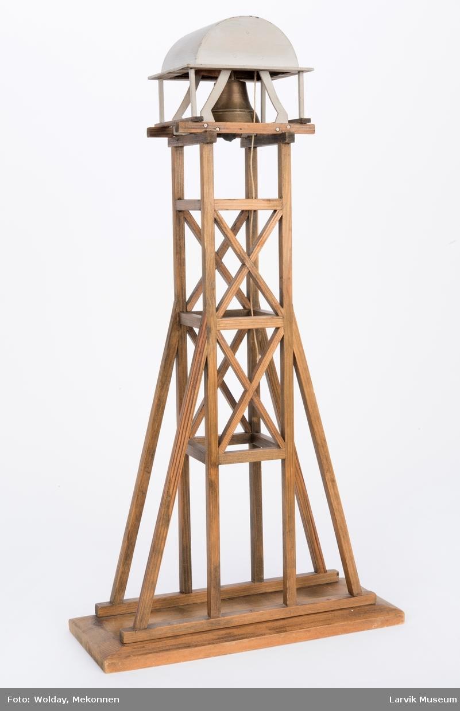 Modell av verklklokka på Fritzøe Værk