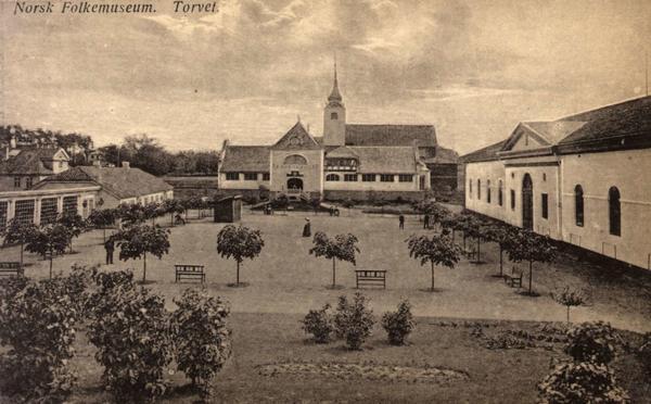 De første museumsbygningene på Norsk Folkemuseum. Foto/Photo