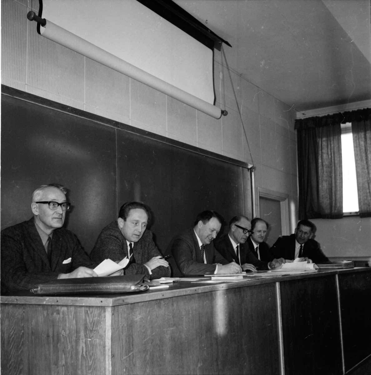 Arbrå, Diskussion om jordbruksorg. på Nytorp, Jan 1970